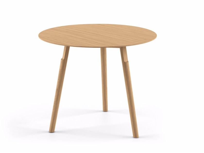 Round solid wood coffee table KAYAK SMALL TABLE - 04B by Alias
