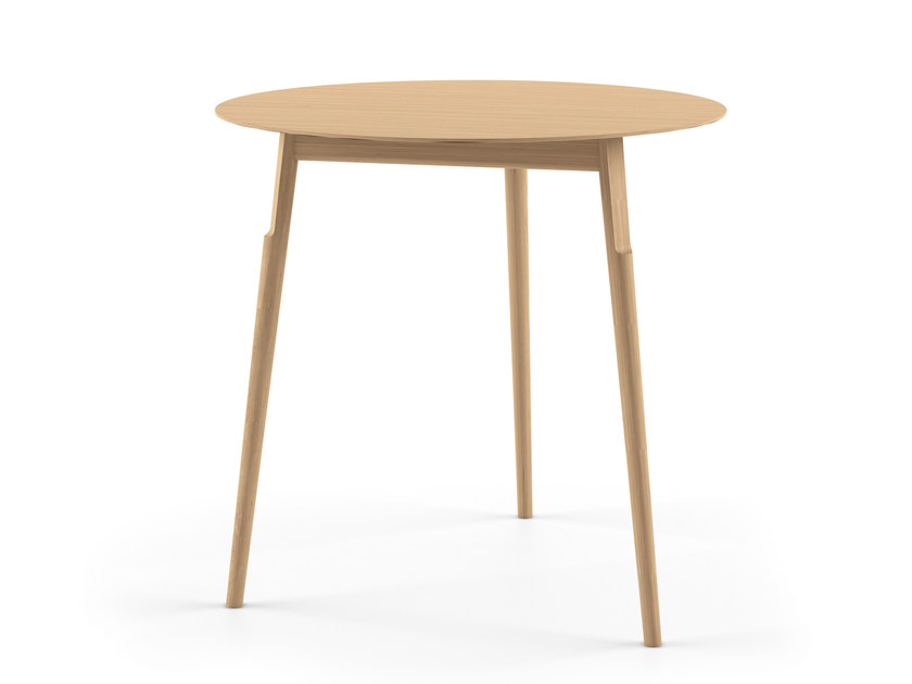 Round solid wood table KAYAK TABLE - 04A by Alias