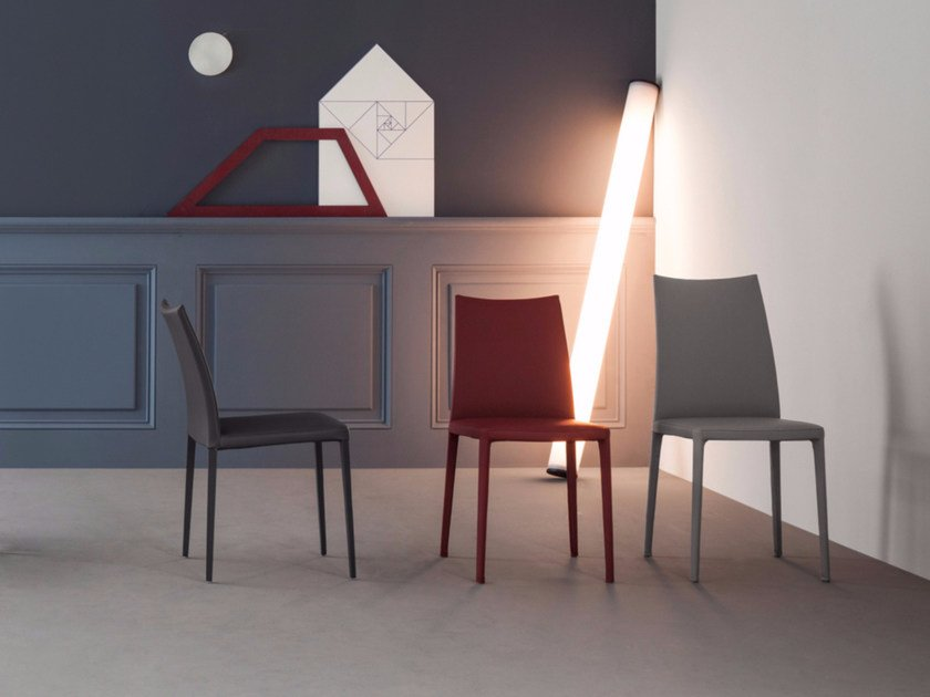 Sedia in pelle KAYLA by Bonaldo