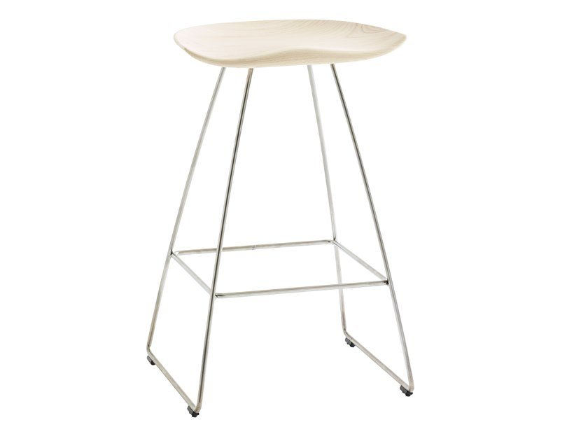 High solid wood stool KAZ | High stool by Karl Andersson