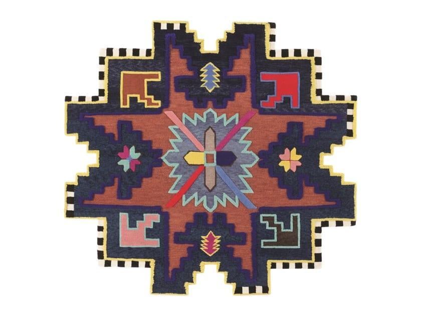 Handmade custom rug KAZAK SPACE SHIFTER by cc-tapis