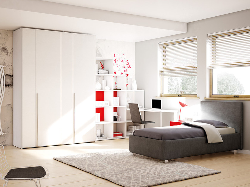 Fitted wooden teenage bedroom KC 202 | Bedroom set by Moretti Compact