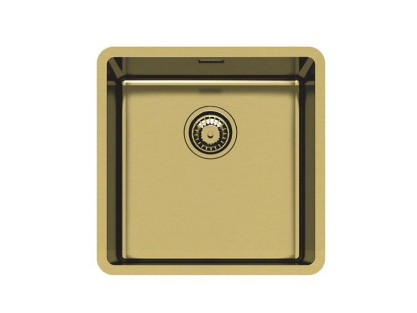 Single undermount stainless steel sink KE 40 VINTAGE GOLD S/T by Foster