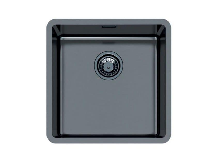 Single flush-mounted stainless steel sink KE 40 VINTAGE GUNMETAL FT by Foster