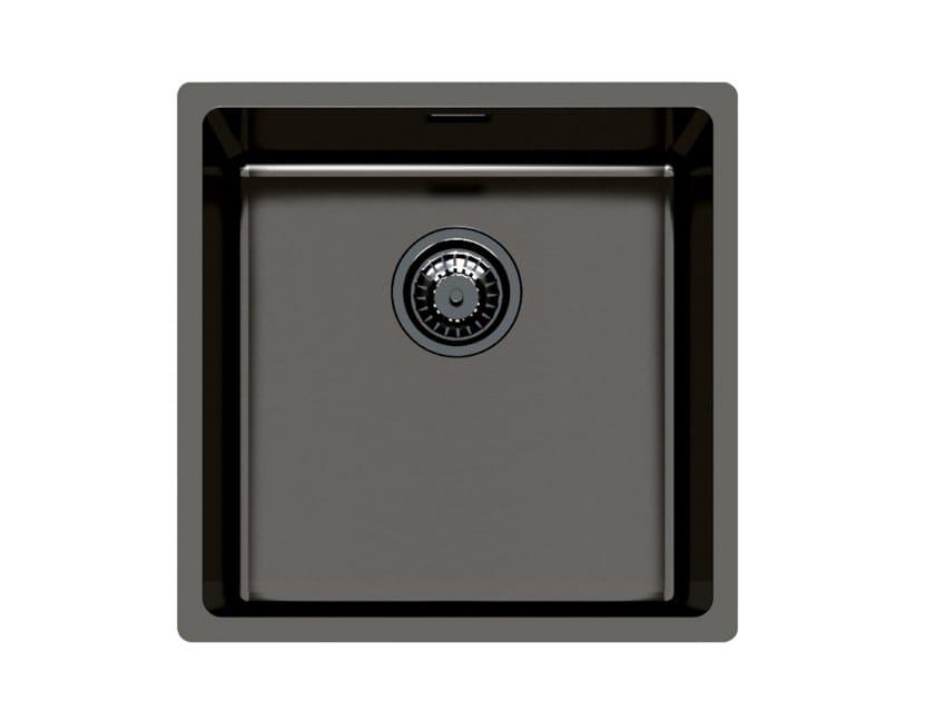 Single undermount stainless steel sink KE 40 VINTAGE GUNMETAL S/T by Foster