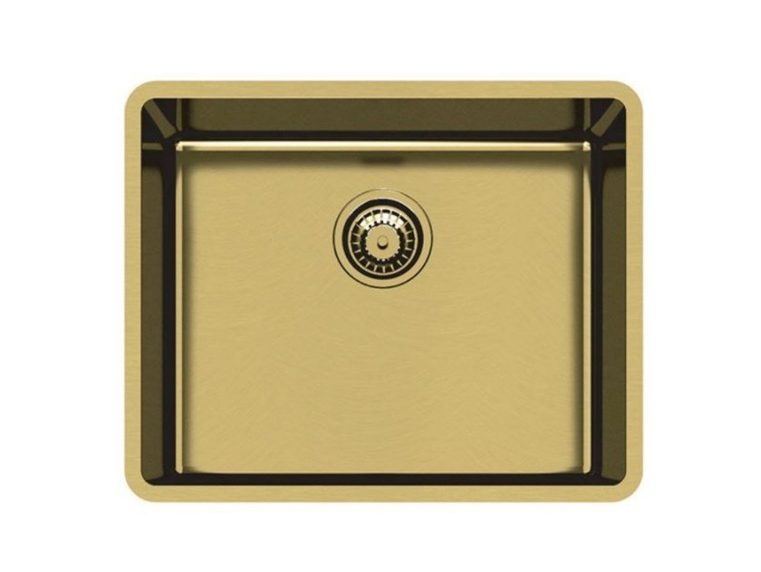 Single undermount stainless steel sink KE 50 VINTAGE GOLD S/T by Foster