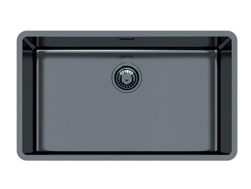 Single flush-mounted stainless steel sink KE 71 VINTAGE GUNMETAL FT by Foster