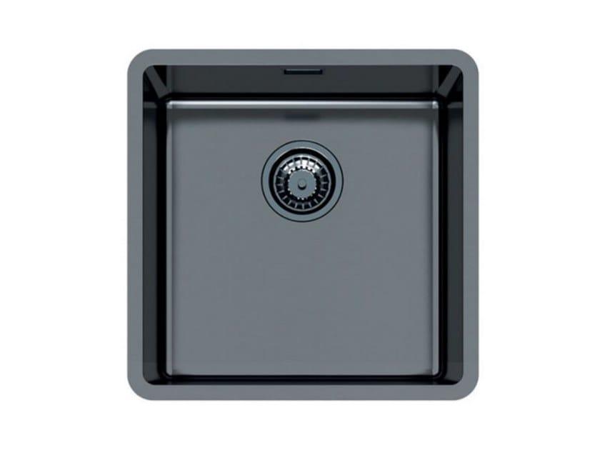 Single undermount stainless steel sink KE 71 VINTAGE GUNMETAL S/T by Foster