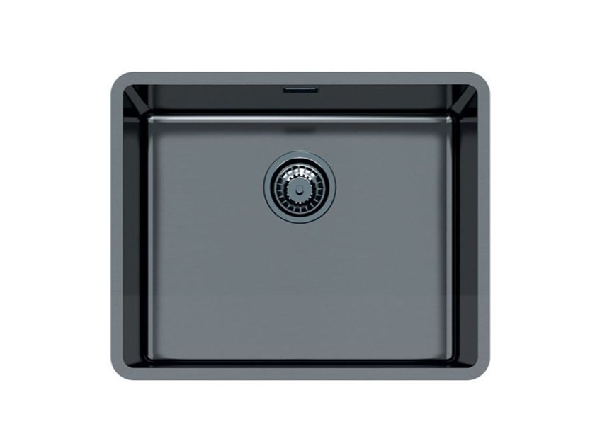 Single flush-mounted stainless steel sink KE R15 50X40 FT GUNMETAL by Foster
