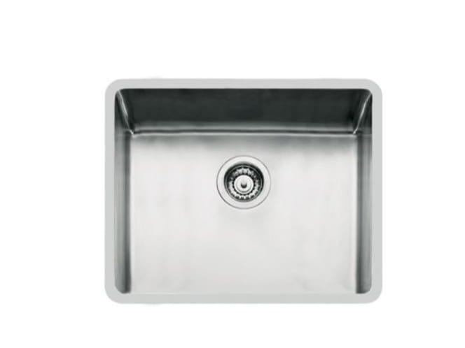 Single flush-mounted stainless steel sink KE R15 50X40 FT TPR INOX by Foster