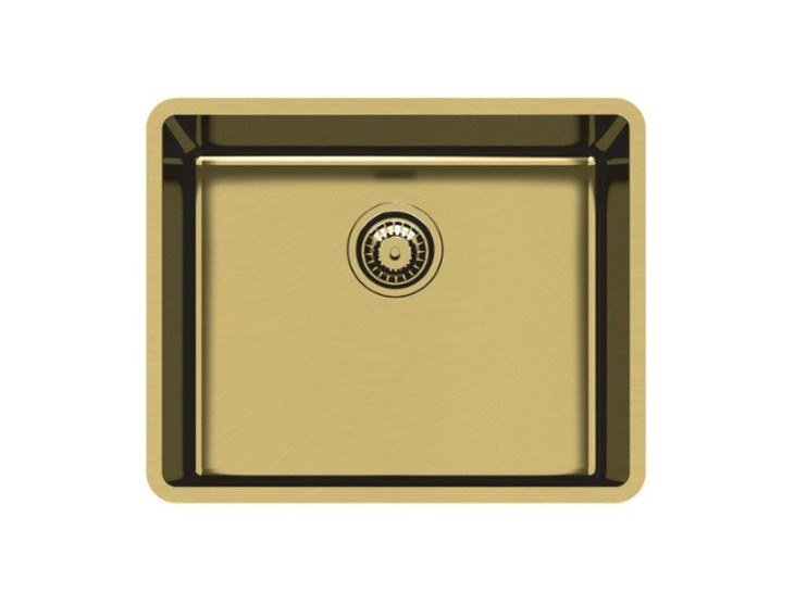 Single undermount stainless steel sink KE R15 50X40 S/TOP GOLD by Foster