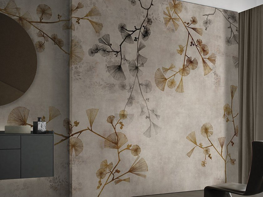 Wallpaper with floral pattern KEIKO by GLAMORA