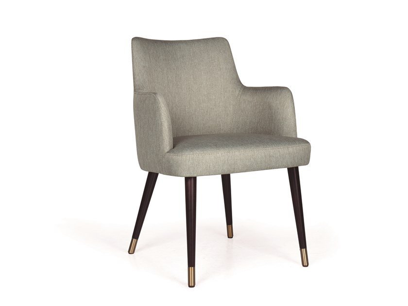 Upholstered fabric chair with armrests KELLY 04 MAPLE LT by Fenabel