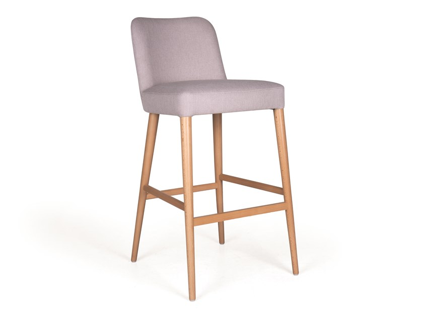 Upholstered fabric barstool KELLY BAR by Fenabel