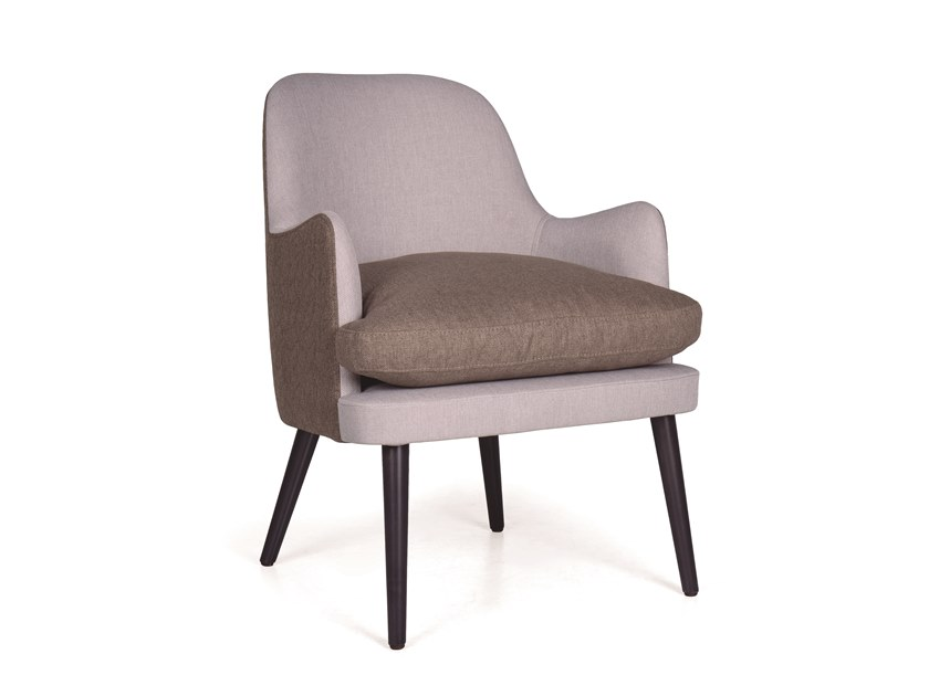 Fabric easy chair with armrests KELLY FLUFFY by Fenabel