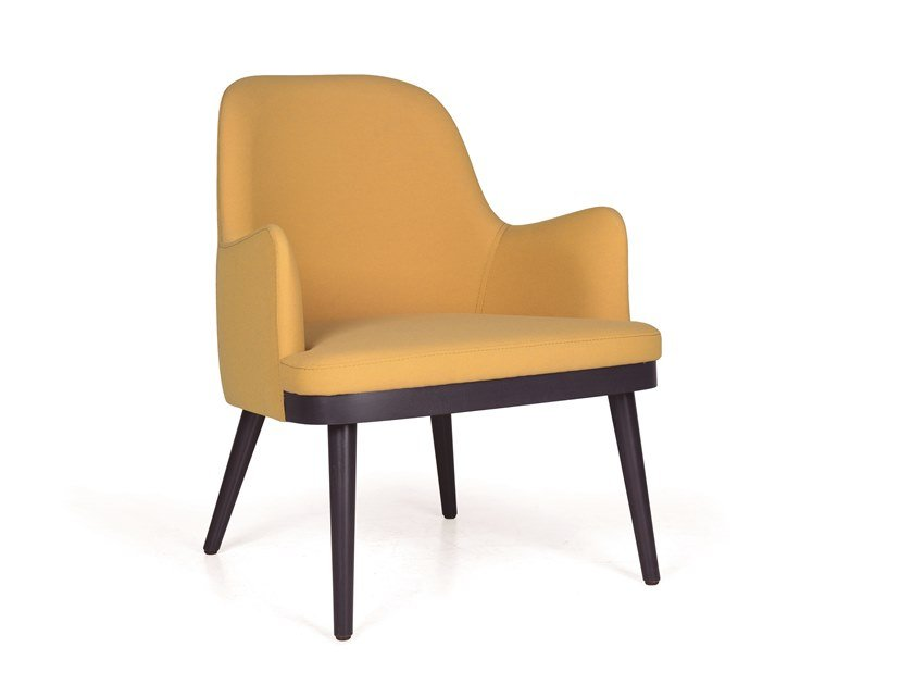 Contemporary style fabric easy chair with armrests KELLY MASS by Fenabel