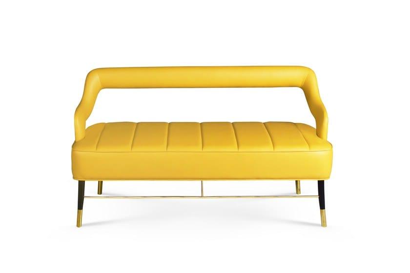 Leather Small Sofa KELLY | Leather Small Sofa By Ottiu