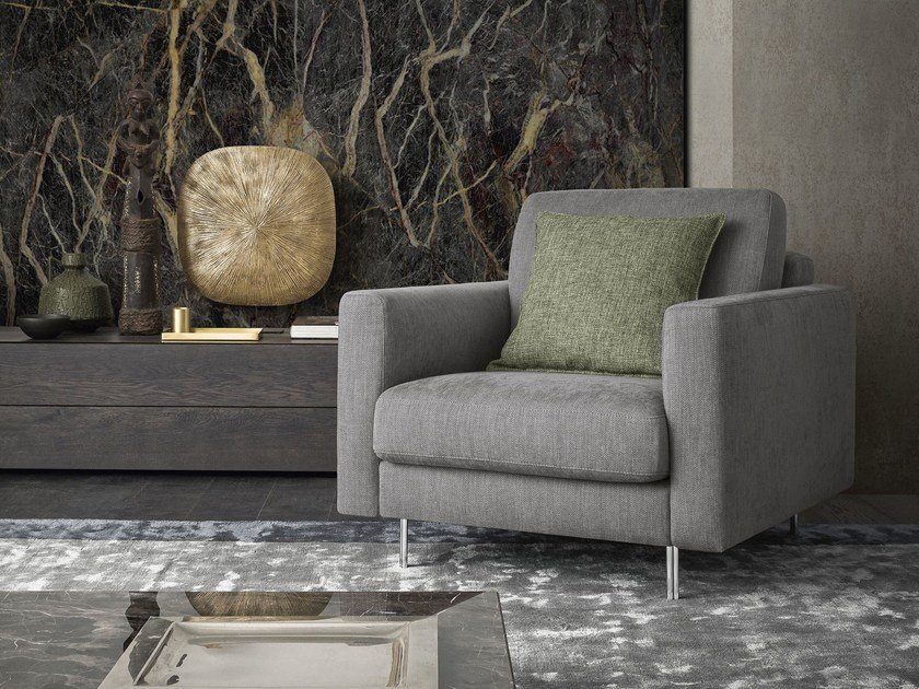 Fabric armchair with armrests KENDAL | Armchair by Felis