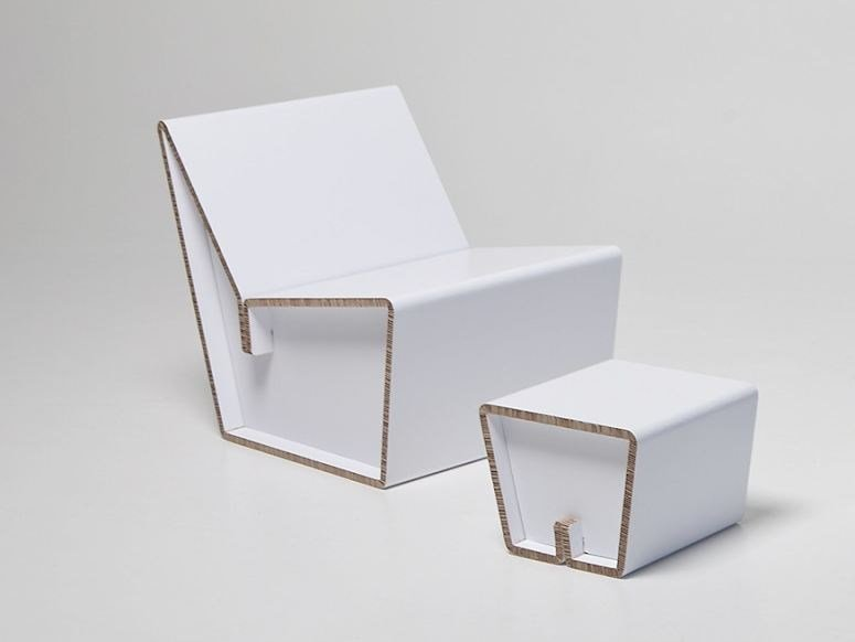 Sedia in cartone kenno l collezione kenno by showroom finland