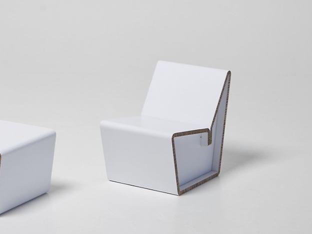 Cardboard kids chair KENNO S by SHOWROOM Finland