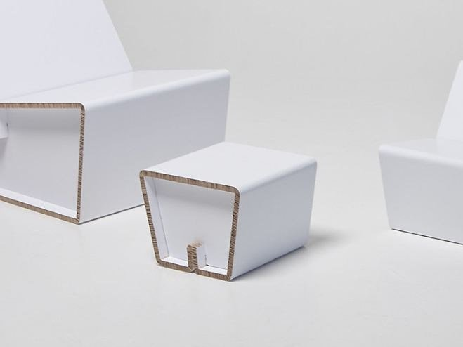 Low cardboard stool KENNO XS by SHOWROOM Finland