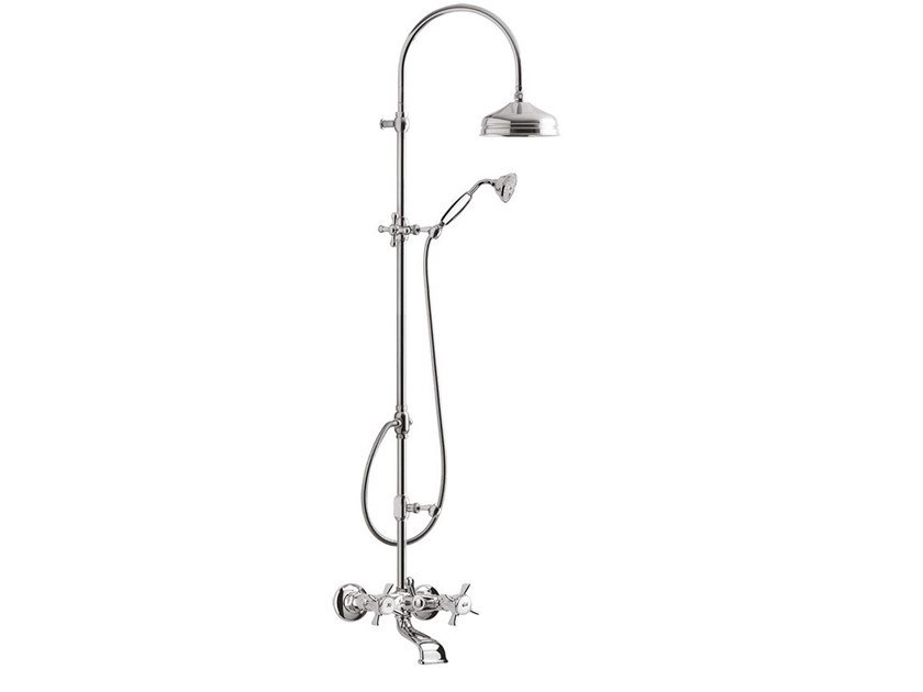 Wall-mounted shower panel with hand shower KENSINGTON - 3700WC-S by Rubinetteria Giulini