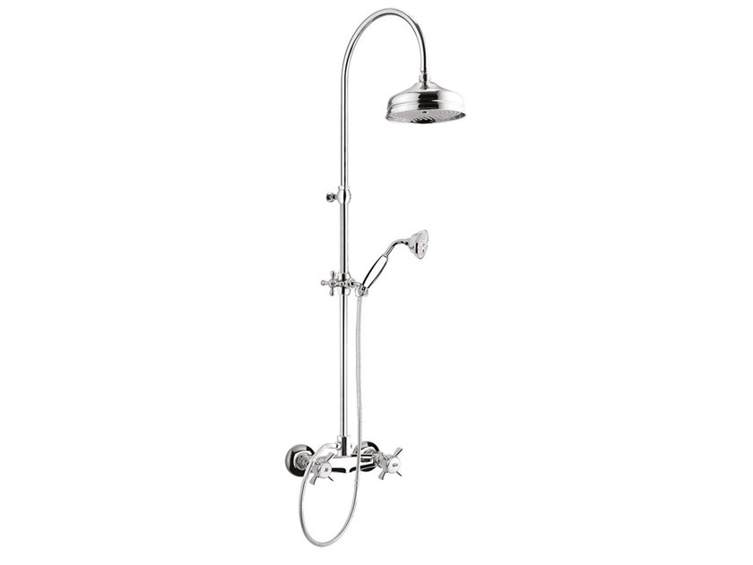 Wall-mounted shower panel with hand shower KENSINGTON - 3707WC-S by Rubinetteria Giulini
