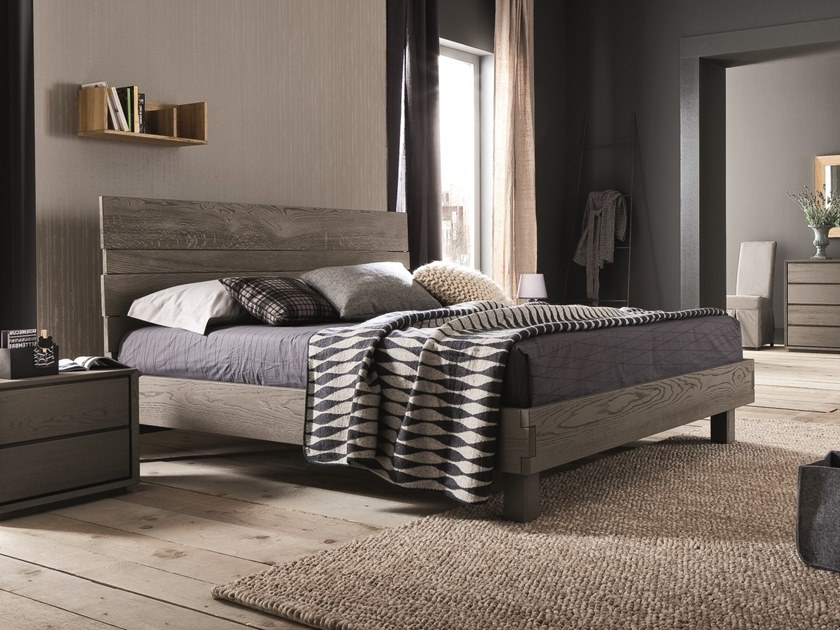 Oak double bed KENZO | Bed by AltaCorte