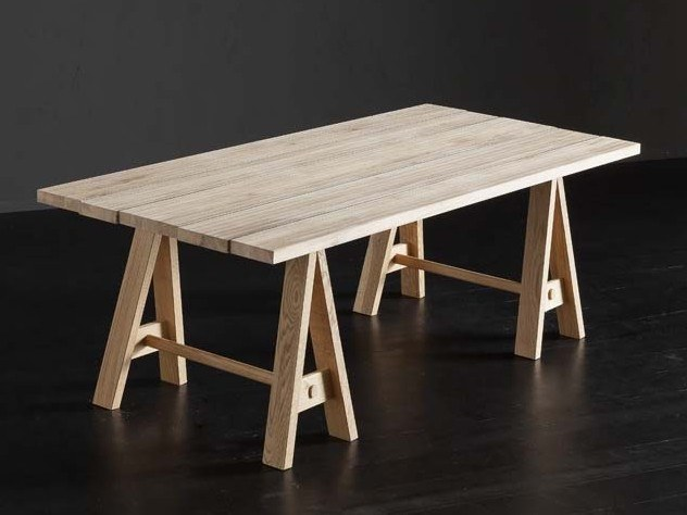 Rectangular wooden dining table KENZO + HORSE by AltaCorte