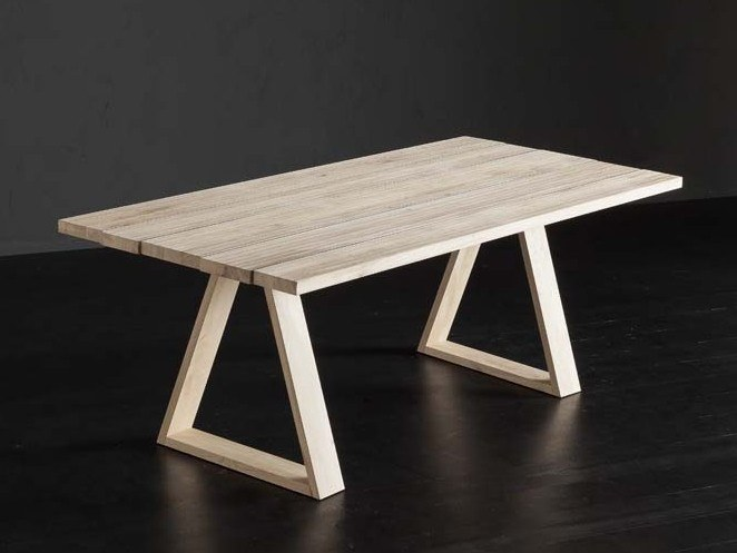 Rectangular wooden dining table KENZO + MEKANO by AltaCorte
