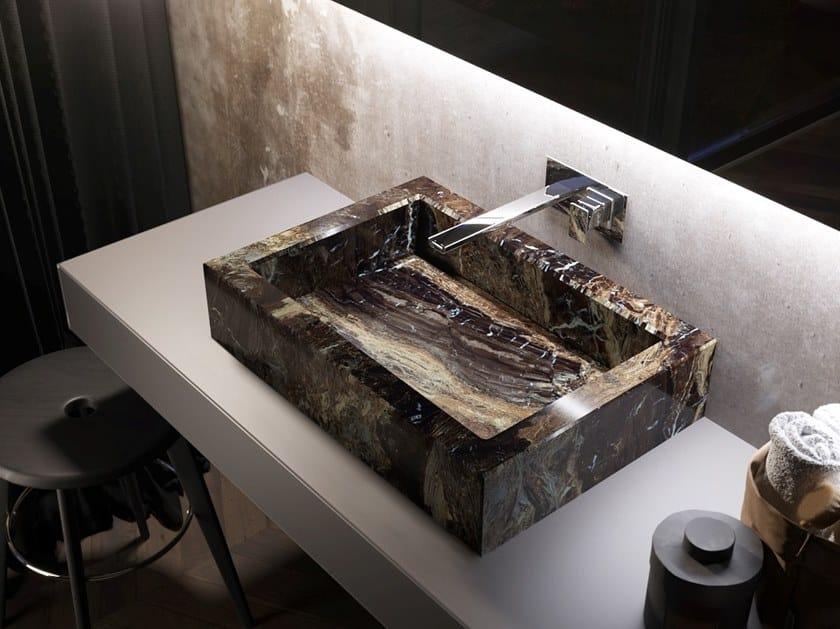 Countertop rectangular washbasin KERAMIK | Countertop washbasin by Q'in