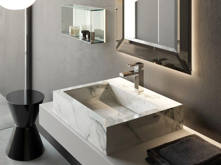 Countertop rectangular washbasin KERAMIK | Rectangular washbasin by Q'in