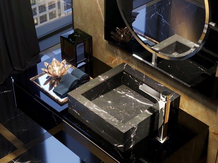 Countertop square washbasin KERAMIK | Square washbasin by Q'in
