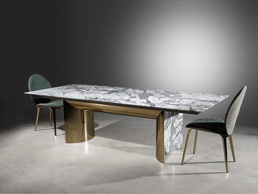Rectangular Marble Living Room Table Kerwan By Visionnaire Design Alessandro La Spada