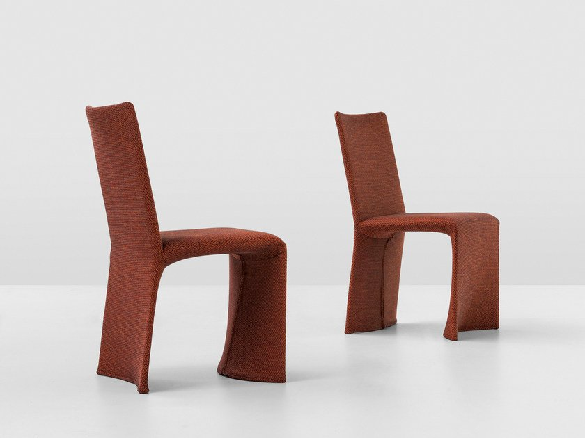 Fabric chair with removable cover KETCH by Bonaldo