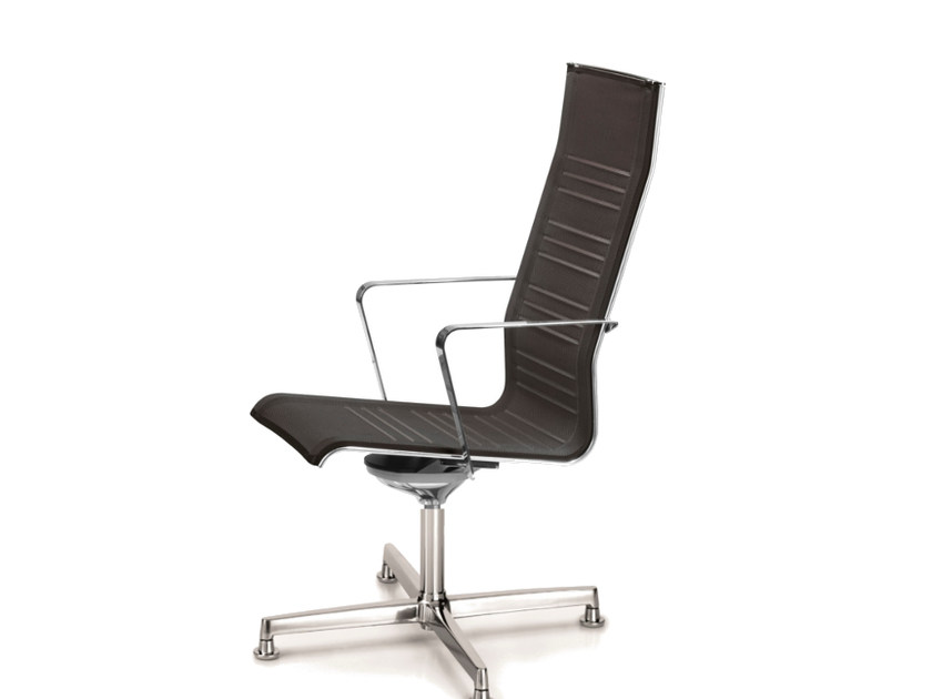 Mesh task chair with 4-Spoke base with armrests KEYPLUS 3158 by TALIN