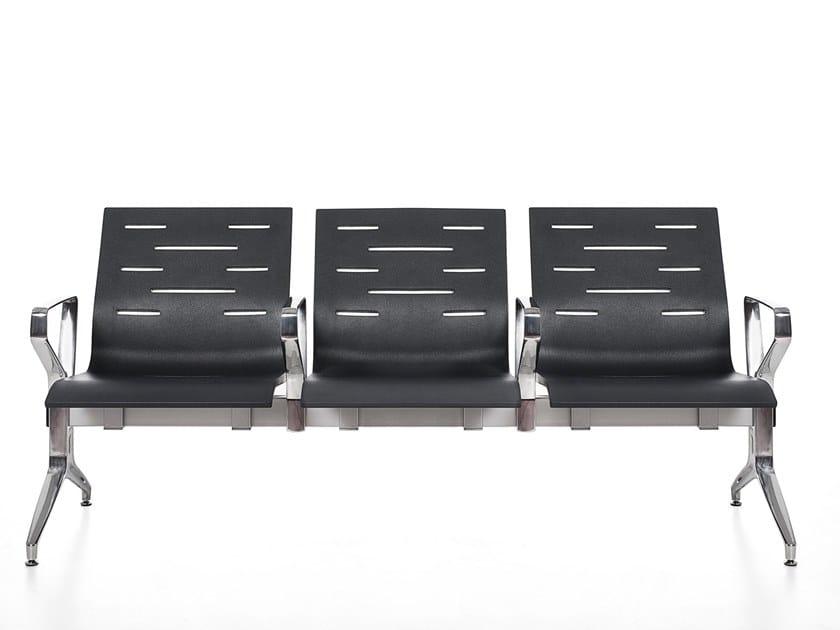 Freestanding beam seating with armrests KEYPORT by Kastel