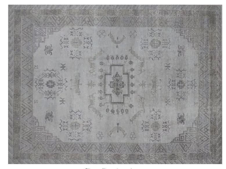 Patterned handmade rug KH104B | Rug by Mohebban