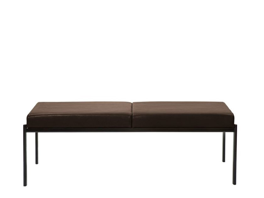 Upholstered leather bench KIKI | Leather bench by Artek