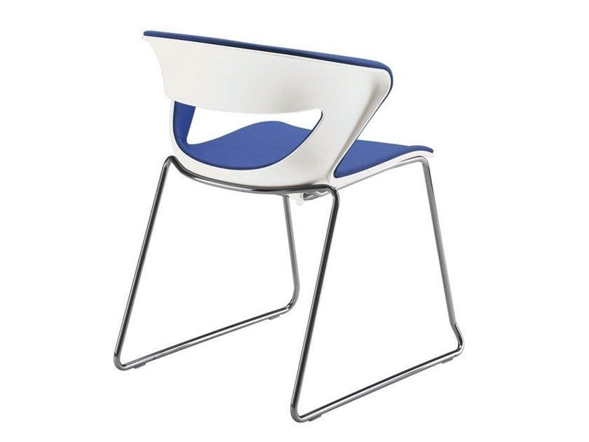 Sled base stackable chair with linking device KICCA | Sled base chair by Kastel
