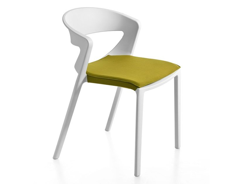 Open back chair with integrated cushion KICCA ONE | Chair by Kastel