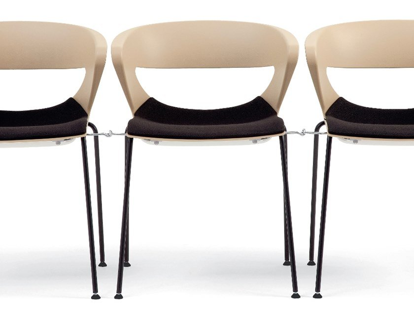 Stackable chair with integrated cushion KICCA | Chair with linking device by Kastel