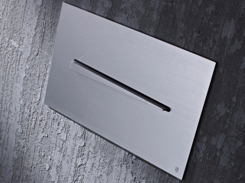 Placca di comando per wc in acciaio inox KIKU by Radomonte