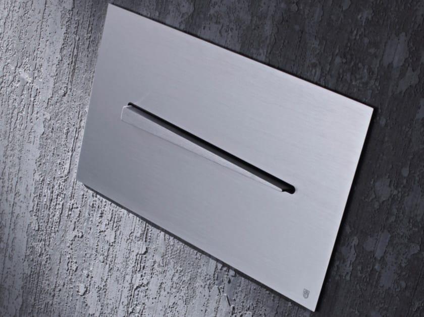 Stainless steel flush plate KIKU by Radomonte