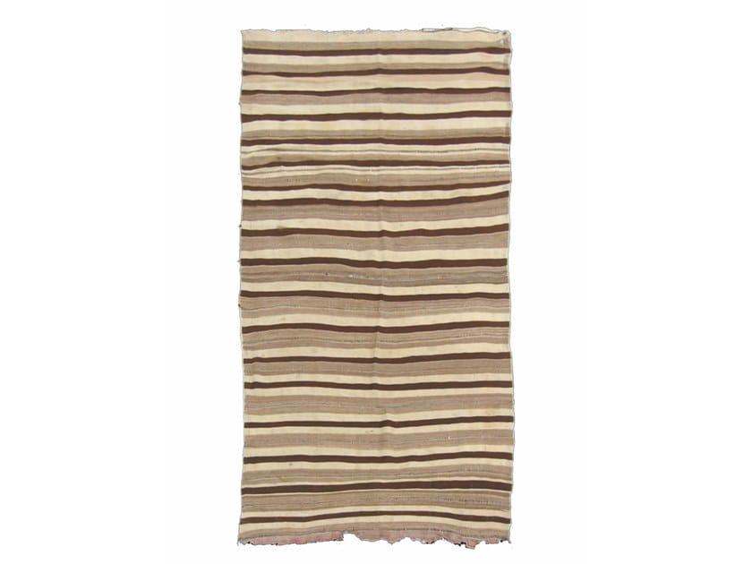 Rectangular striped wool rug KILIM TA130BE by AFOLKI