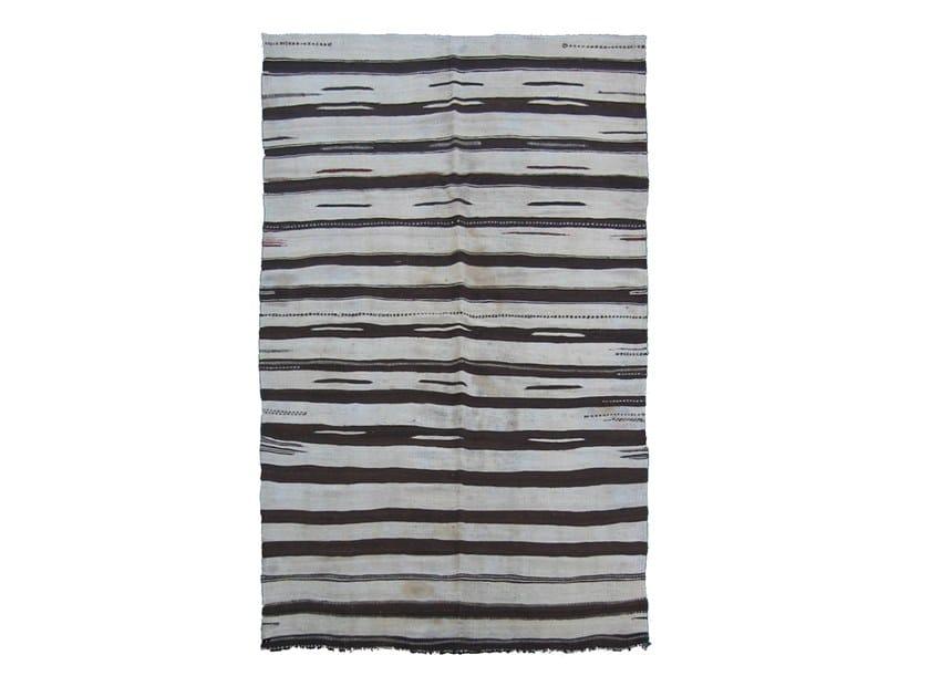 Rectangular striped wool rug KILIM TA512BE by AFOLKI