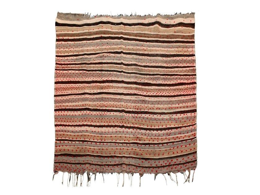 Striped wool rug KILIM TA529BE by AFOLKI