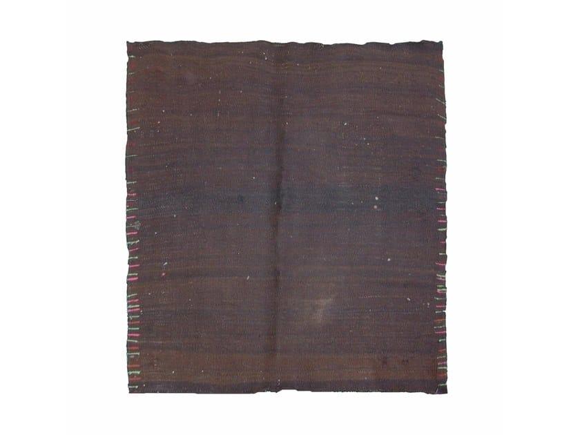 Solid-color wool rug KILIM TA588BE by AFOLKI
