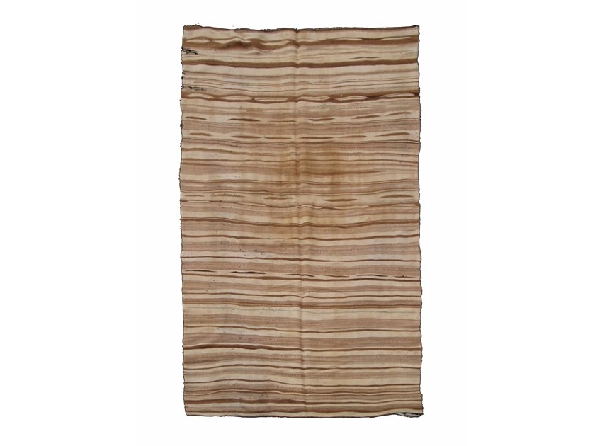 Rectangular striped wool rug KILIM TA605BE by AFOLKI