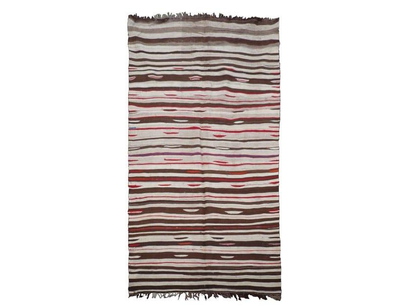 Rectangular striped wool rug KILIM TA826BE by AFOLKI